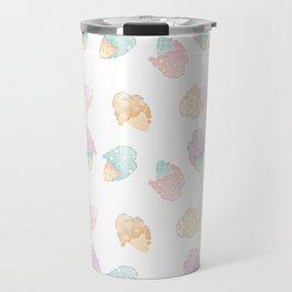 Pastel Melted Ice Cream (White) Travel Mug