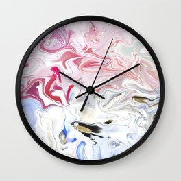 Pink Abstract Wall Clock