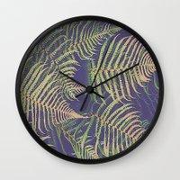fern Wall Clocks featuring Fern by 83 Oranges®