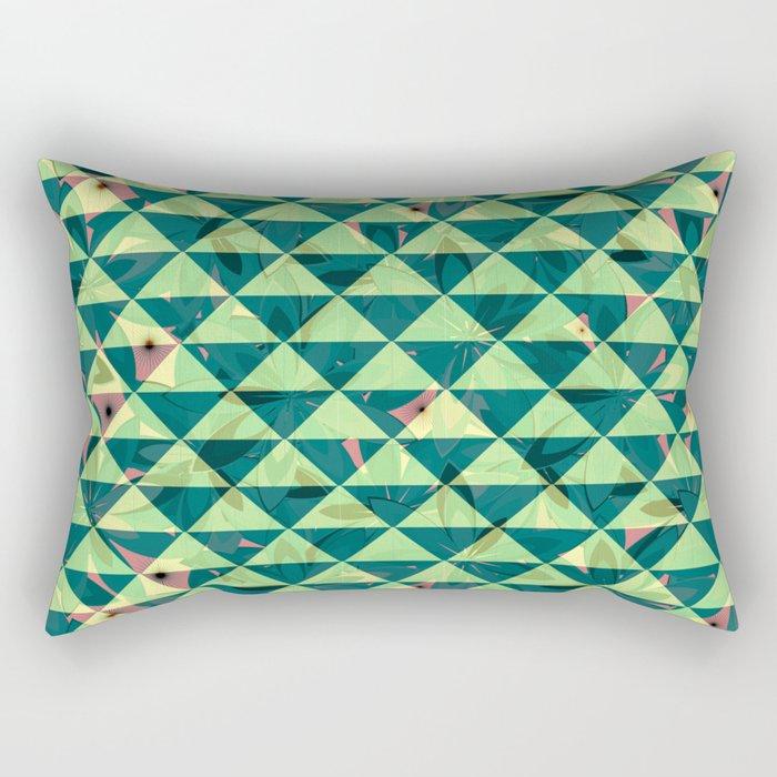 Vegetation-triangles Rectangular Pillow