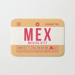 Retro Airline Luggage Tag 2.0 - MEX Mexico City International Airport Mexico Bath Mat
