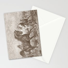 HORSES ON A PASTURE  Stationery Cards