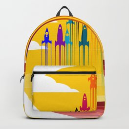 colorful rockets Backpack