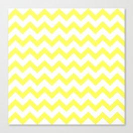 Chevron (Yellow & White Pattern) Canvas Print