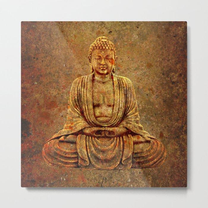 Sand Stone Sitting Buddha Metal Print