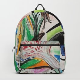 I'm Here. Original Painting by Jodilynpaintings. Abstract Artwork. Backpack