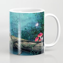 Majestic Fantasy Forest Spirit Entities At Night Full Moon Ultra HD Coffee Mug