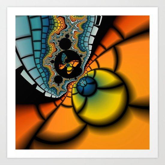 Fractal Cacoon Art Print