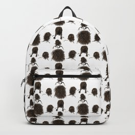 Messy dry curly hair pattern Backpack