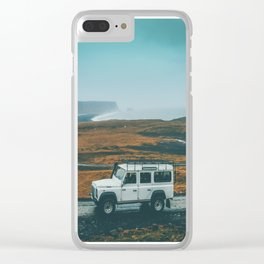 Defender on the Road Clear iPhone Case