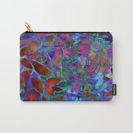 Floral Abstract Stained Glass G174 Carry-All Pouch