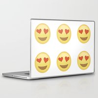 emoji Laptop & iPad Skins featuring Emoji Love Eyes by Rhianna Power