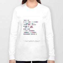 OK Computer Radiohead Colour Encoded Album Long Sleeve T-shirt