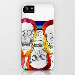Color Skulls iPhone Case