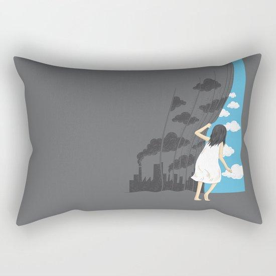 Hey Mr. Blue Sky Rectangular Pillow