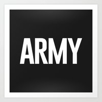 army Art Prints featuring Army by Oliver Lance Kerr