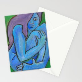 Blue Nude Stationery Cards