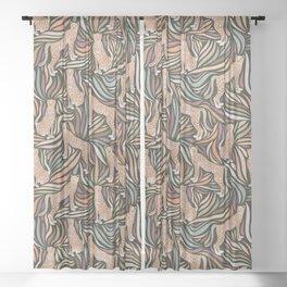 Cheetahs and Leaves / Earth Tones Sheer Curtain