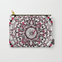 TOP Red and Black Mandala Carry-All Pouch