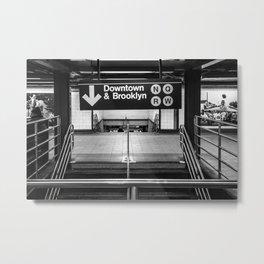 Downtown New York City Subway Metal Print