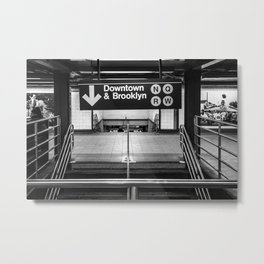 Downtown New York City Subway Metal Print