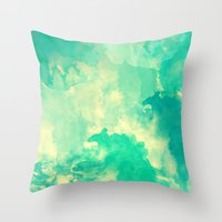 underwater Throw Pillows featuring Underwater by Galaxy Eyes