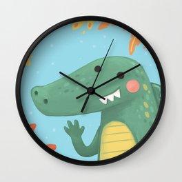 African Crocodile Wall Clock