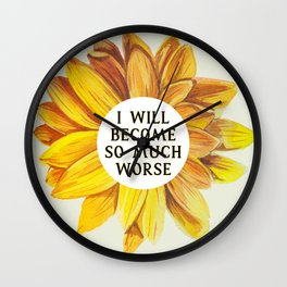 Cruel Prince: SO MUCH WORSE by Holly Black Wall Clock