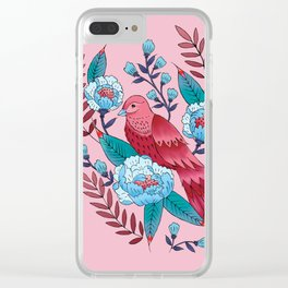 Technicolor birds of a feather Clear iPhone Case