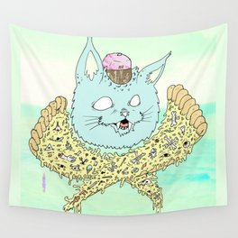 PIZZACAT I Wall Tapestry