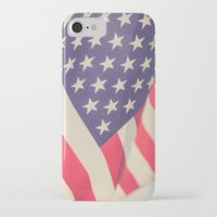 american flag iPhone & iPod Cases featuring American Flag by Leah M. Gunther Photography & Design