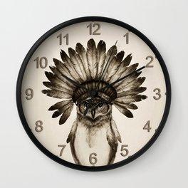 Owl Cheif Wall Clock