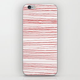just some red lines iPhone Skin