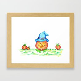 Hilbillie pumpkin Framed Art Print