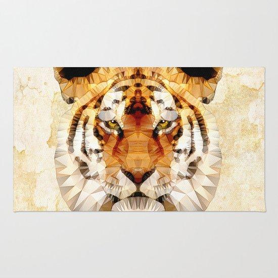 abstract tiger Rug