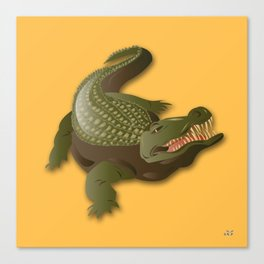 Crocodile - 'A Fantastic Journey' Canvas Print
