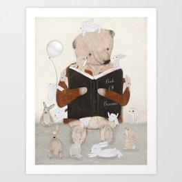 the little book of bunnies Art Print