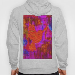 Humming Bird - Bright Red and Purple Hoody