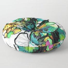 Turquoise Efflourescence Floor Pillow