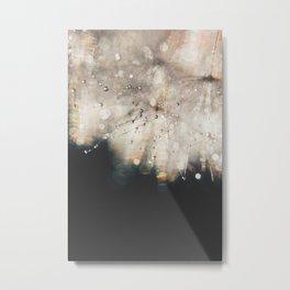 dandelion silver and black Metal Print