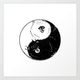 The Tao of  Pomeranians Art Print