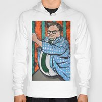 snl Hoodies featuring SNL Chris Farley as Matt Foley by Portraits on the Periphery