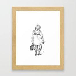 Lady with Bag Framed Art Print