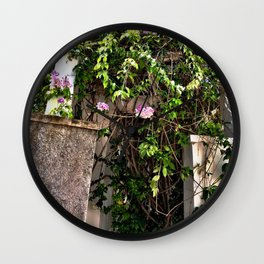 BUILDINGS AND BRAMBLE Wall Clock