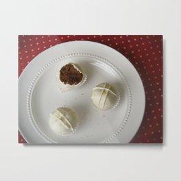 Gingerbread Cake Truffles Metal Print