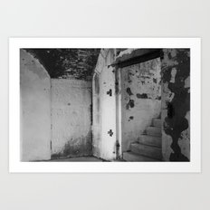 Black and White Staircase Art Print