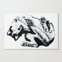 Husky Side UP Canvas Print