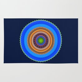 Colourful mandala with tribal patterns Rug