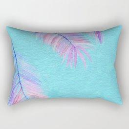 Watercolor Leaves Rectangular Pillow