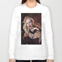true blood Long Sleeve T-shirts featuring Pam de Beaufort of True Blood by Jaime Gervais